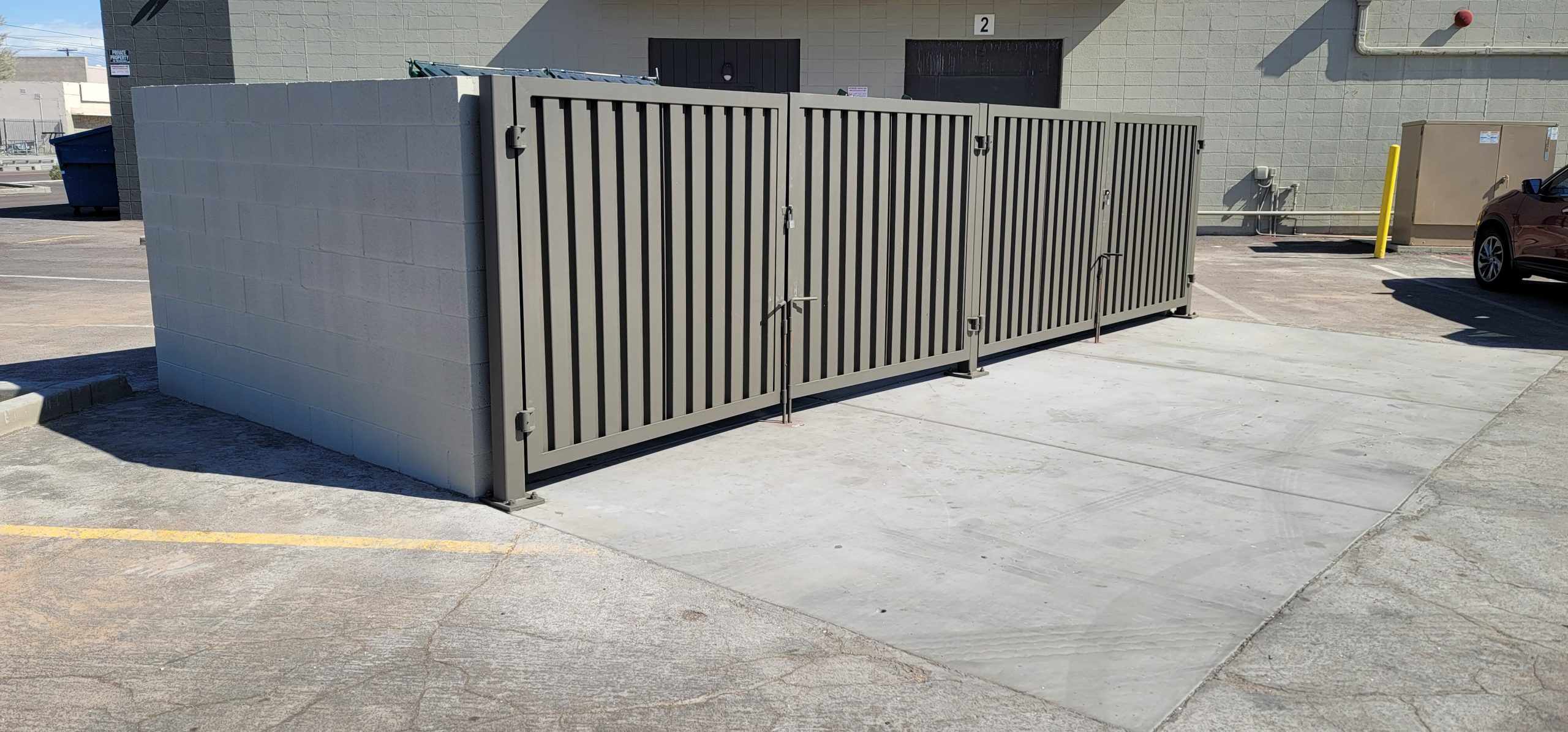 How Much Does It Cost to Build a Concrete Trash or Dumpster Enclosure in Phoenix, Arizona?